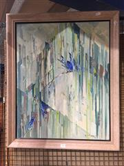 Sale 8771 - Lot 2089 - Lilian Sutherland - Abstract, oil on board, SLR 1960 60x50cm A/F