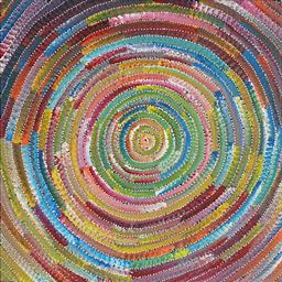 Sale 9150 - Lot 572 - BERNADINE JOHNSON KAMARA (c1974 - ) - Circle 60 x 60 cm (stretched and ready to hang)