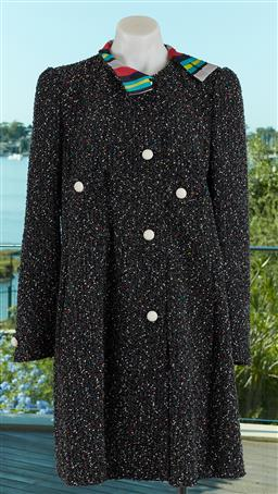 Sale 9120K - Lot 44 - An Emporio Armani ladies coat; with speckle design and polyester lining, size US 46