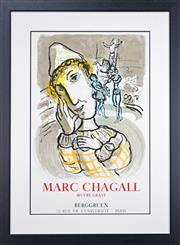 Sale 8270 - Lot 3 - Marc Chagall (1887-1985) - The Circus with Yellow Clown, 1967 86 x 56cm