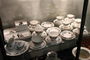 Sale 8081 - Lot 74 - Royal Doulton Burgundy Tea Wares with Other Ceramics incl Villeroy & Boch