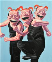 Sale 8365A - Lot 42 - Contemporary Chinese School (XX) N/A - Three Jesters 60 x 50cm (framed & ready to hang)