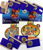 Sale 8299C - Lot 514 - ROYAL AUSTRALIAN MINT UNCIRCULATED COIN ISSUES; Vote for Women Centenary 1994 $5 coin x (9), 2003 Making a Difference and 2003 Austr...