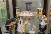 Sale 8340 - Lot 86 - Doulton Lambeth Vase (Restored) with Other Ceramics incl French Figural Container