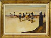 Sale 8374 - Lot 509 - W.R. Lyons (1930 - 1985) - Schools Out 50 x 75cm