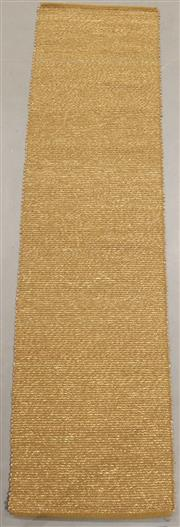 Sale 8438K - Lot 120 - Khaki Woven Seagrass Runner | 400x75cm, Seagrass Pile & Strong Cotton Binding, Hand-woven in Jaipur, Rajasthan. Hand woven by skille...