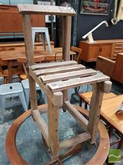 Sale 8493 - Lot 1052 - Vintage Post Office Rustic Timber Chair