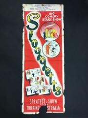 Sale 8539M - Lot 3 - 'Sloggetts Big Comedy Stage Show: The Greatest of its Kind Touring Australia'. Bexley Masonic Hall. Original poster, c. 1950s, 99 x..