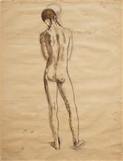 Sale 8583 - Lot 565 - Justin OBrien (1917 - 1996) - Standing Nude, 1970 49.5 x 37.5cm