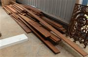 Sale 8677A - Lot 72 - A vast quantity of hardwood tongue and groove flooring in various lengths,  width 135mm