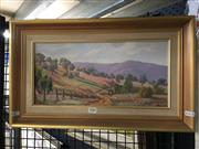 Sale 8720 - Lot 2086 - Henry Malouf - Capertee oil on board, 18.5 x 39cm, signed lower right