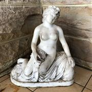 Sale 8795K - Lot 77 - A marble statue of a nude lady