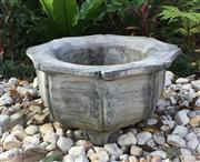 Sale 8857H - Lot 61 - A Carved Genuine Stone Bonsai Planter , General Wear, Small Chips on Base ,Size:39cm D x19cm General Wear ,