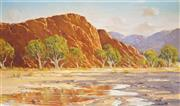 Sale 9013A - Lot 5034 - Les Graham (1942 - ) - Reflection in the Gorge 30 x 50 cm (frame: 50 x 71 x 3 cm)