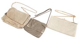 Sale 9092F - Lot 76 - TWO GLOMESH SLOUCH SHOULDER BAGS; together with another mesh shoulder bag.
