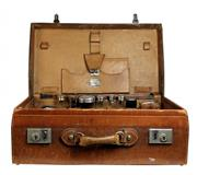 Sale 7937 - Lot 17 - Mens Fitted Travelling Case with Hallmarked Sterling Silver Bottles