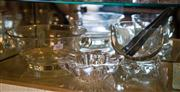 Sale 7984 - Lot 63 - A group of glasswares including a punch bowl, ice bucket and tongs and an ashtray