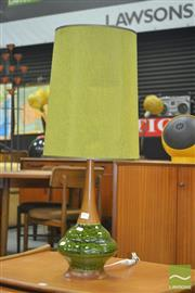 Sale 8275 - Lot 1061 - Green 1970s Table Lamp