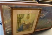 Sale 8346 - Lot 2056 - Framed Monarch Print and Another