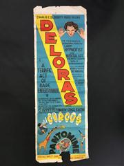 Sale 8539M - Lot 4 - Charles E. Sloggett presents Deloras: The Celebrated, Sensational, Scientific Lady Hypnotist and Mentalist. Original poster by F....