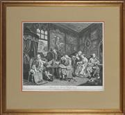 Sale 8888 - Lot 2033 - William Hogarth (1697 - 1764) - The Marriage Settlement I, 1796 34 x 44 cm