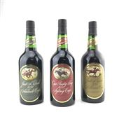 Sale 8876W - Lot 885 - 3x 1978 St Halletts Cup Winners Vintage Port - for 1981 Sydney, Adelaide & Melbourne (3)