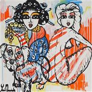Sale 9062A - Lot 5044 - Yosi Messiah (1964 - ) - My Baby Dog 85 x 85 cm