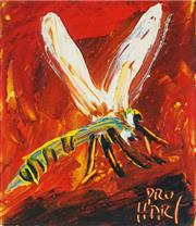 Sale 9030 - Lot 513 - Kevin Charles (Pro) Hart (1928 - 2006) - Dragonfly 10.5 x 10 cm (frame: 36 x 27 x 2 cm)