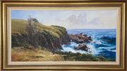 Sale 9044J - Lot 94 - John Downton - Moruya Heads 60x120cm