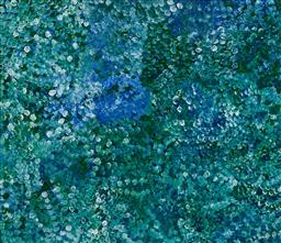 Sale 9148A - Lot 5038 - POLLY NGALE (c1936 - ) Bush Plum acrylic on canvas 200 x 172 cm (stretched and ready to hang) signed verso; certificate of authentic...