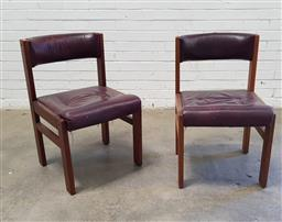 Sale 9102 - Lot 1190 - Set of four leather upholstered dining chairs by Danish Deluxe (h78 x w52 x d51cm)