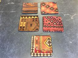 Sale 9126 - Lot 1292 - Persian hand knotted 5 pieces of cushion covers ( 40 x 40cm)