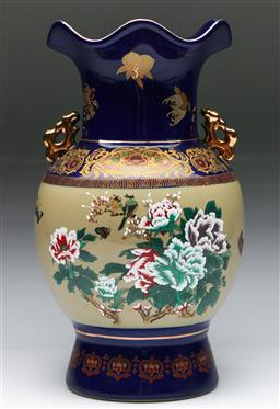 Sale 9144 - Lot 252 - Ceramic Chinese butterfly and flower themed vase (H:30cm)