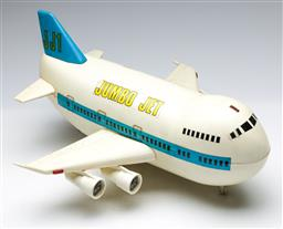 Sale 9164 - Lot 360 - Battery Operated Chinese Jumbo Jet, for Leader Toy Corp in 1986, (L:40cm)