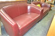 Sale 8175 - Lot 1084 - Pair of 2 Seater Tub Lounges in Moroon