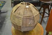 Sale 8275 - Lot 1075 - Brown Woven Hanging Light
