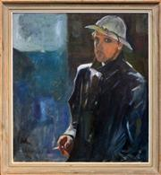 Sale 8286 - Lot 589 - Erik Johan Jerken (1898 - 1947) - Self Portrait, 1941 89 x 81cm