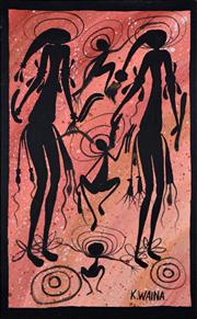 Sale 8365A - Lot 38 - Kevin Waina (XX) - Untitled 70 x 45cm (framed & ready to hang)