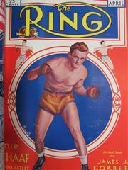 Sale 8419A - Lot 23 - The Ring 1931 - an original bound set of The Ring from February 1931 to January 1932, with great covers
