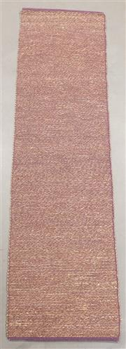 Sale 8438K - Lot 122 - Purple Woven Seagrass Runner | 500x75cm, Seagrass Pile & Strong Cotton Binding, Hand-woven in Jaipur, Rajasthan. Hand woven by skill...