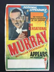 Sale 8539M - Lot 5 - 'The Sensational Murray - Australian Escapologist': The Favourite Magical Entertainer of the Universe'. Original poster by Perfecta.