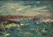 Sale 8565 - Lot 505 - George Feather Lawrence (1901 - 1981) - Evening Drama, 1978 24.5 x 34.5cm