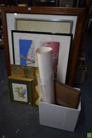 Sale 8592 - Lot 2086 - Collection of Paintings, Prints, etc, framed & unframed