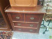 Sale 8648 - Lot 1007 - Edwardian Pine Chest of Four Drawers