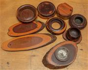 Sale 8984H - Lot 308 - A group of mulga wood including souvenir dishes, wall plaques etc.