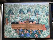 Sale 9028 - Lot 2099 - Balinese Painting on Textile -