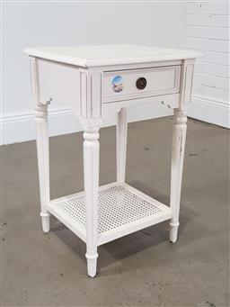Sale 9255 - Lot 1043 - Painted timber side table (h:72 x w:45 x d:40cm)