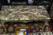 Sale 8031 - Lot 1024 - Marble Top Metal Based Coffee Table