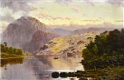 Sale 8389 - Lot 563 - Haughton Forrest (1826 - 1925) - Lake St. Clair, Tasmania 40.5 x 62.5cm