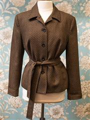 Sale 8577 - Lot 163 - A David Lawrence 100% woollen jacket with belt, size 41, Condition: Excellent